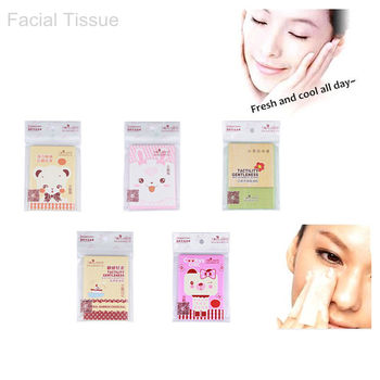 1 Pack 40 Sheet Facial oil Control Absorption Paper Lock Water Face Tissue Oil Control Absorbent Paper Makeup Beauty Tools фото