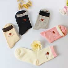 Autumn Women Socks Hosiery/ Knit Cotton Short Socks Casual Character Cat Socks High Quality Warm Soft Ladies Socks 1Lot/5Pairs