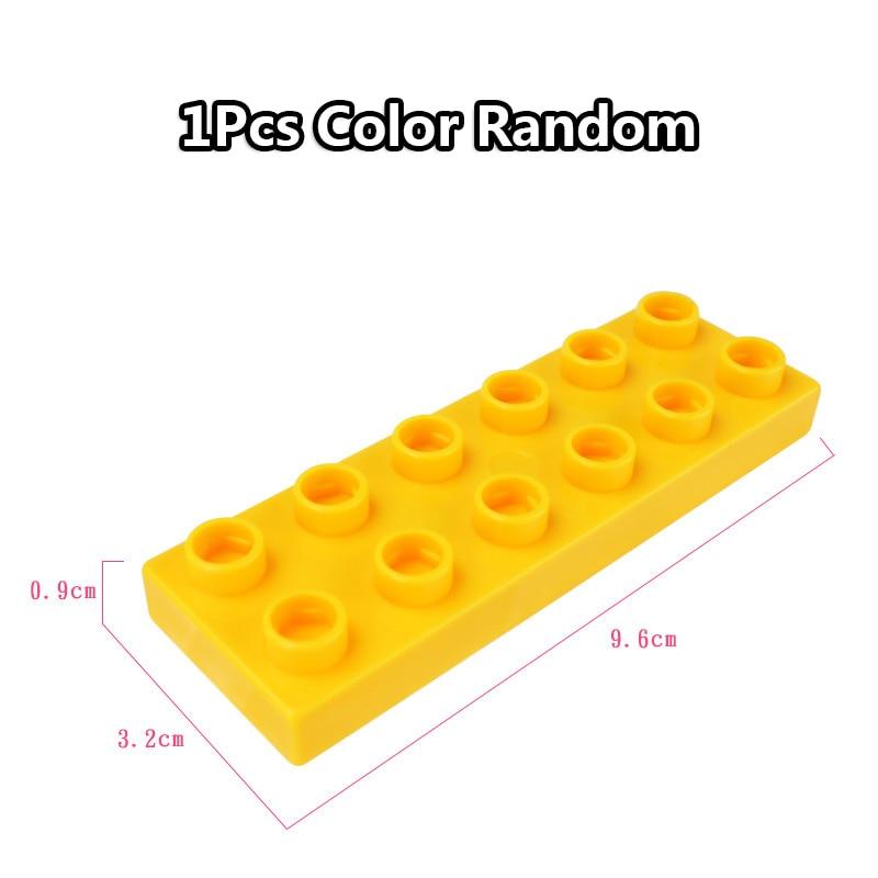 Big Size Duploe Train Building Blocks Bricks Accessory Compatible With Duplos base plate Transparent Square Toys for Children (17)