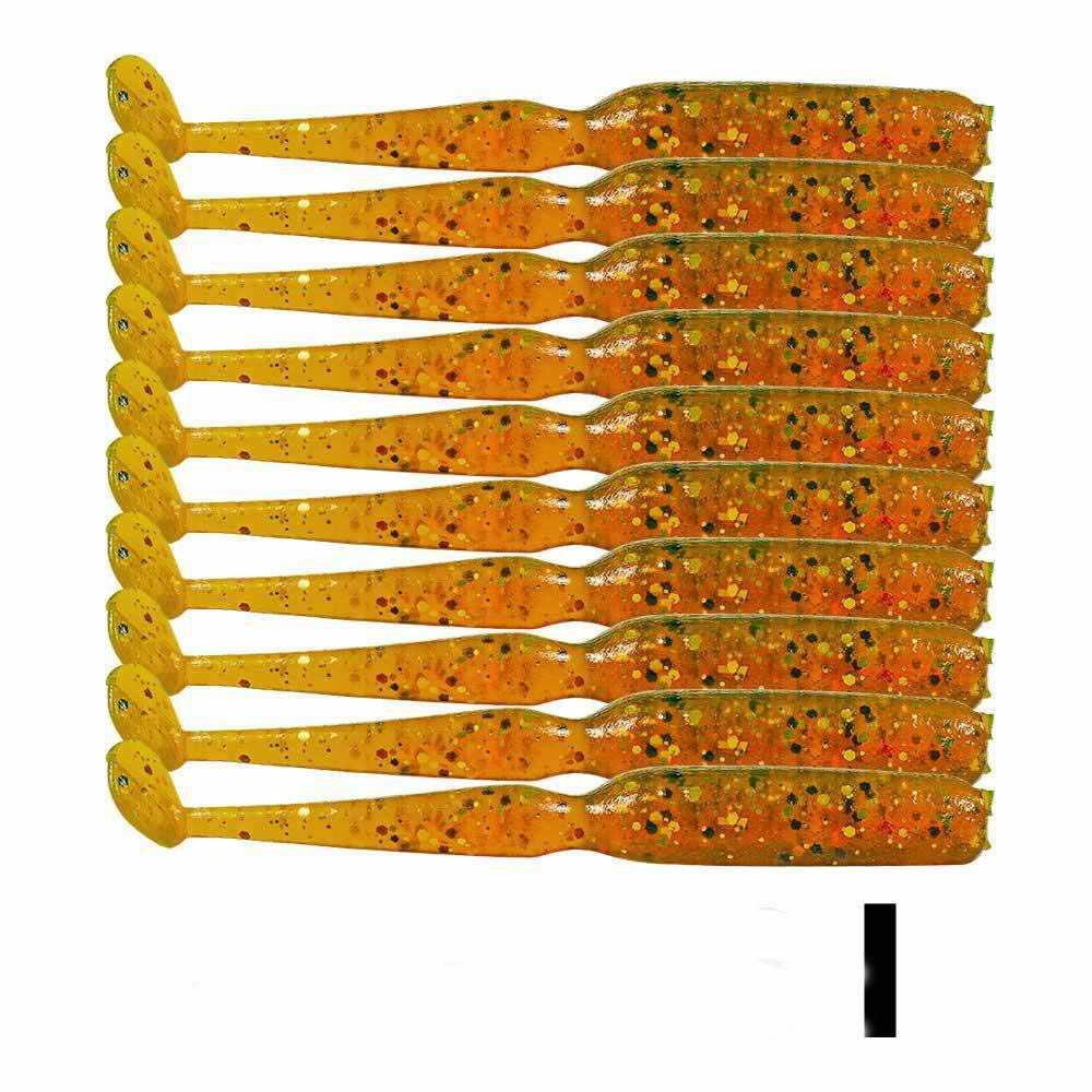 Peche 10 pièces appâts souples pêche leurre Set alose Wobbler pêche à la mouche noir méné tête de gabarit Silicone ver Isca appâts artificiels Pesca