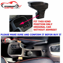 CITYCARAUT0 central armrest BIG SPACE+LUXURY+USB armrest box content box with cup holder LED USB FOR OLD CRUZE 2009-15 FREESHIP