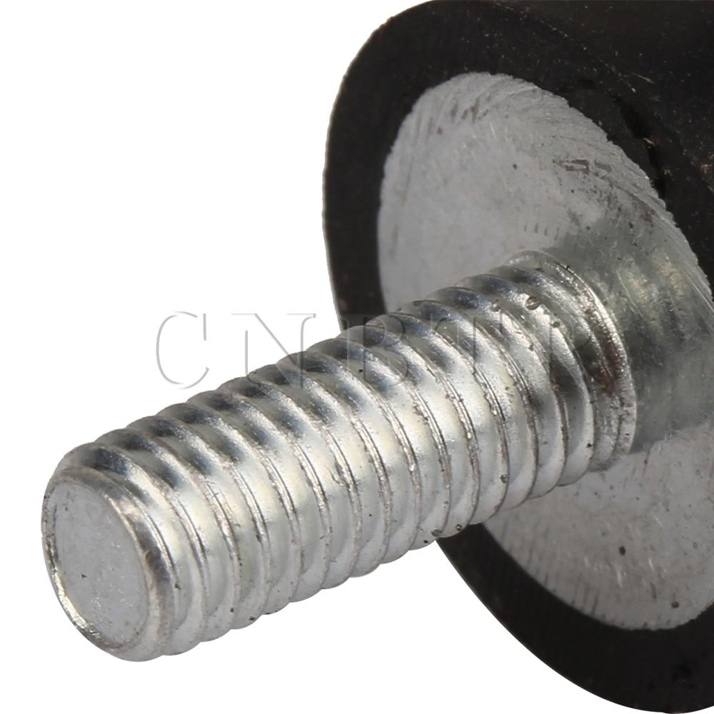 10 mm color negro y plateado CNBTR Silentblock con doble tornillo para motor de gasolina