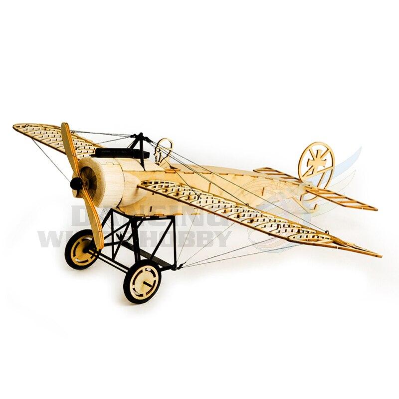 Laser Cut Balsa Wood Airplane Model Fokker E Aircraft Wood Craft Construction Kit DIY 3D Wooden