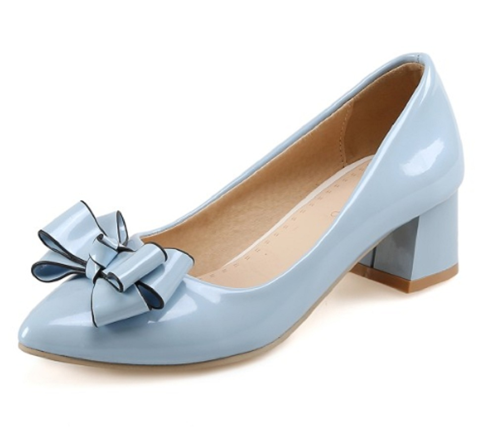 spring/autumn shoes woman high heel plus size pointed toe thick heel shallow small 3 11 butterfly-knot elegant party women shoes new flock high big size 11 12 women shoes wedges pointed toe woman ladies butterfly knot casual spring autumn sweet single shoes