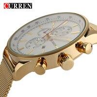 2016 New CURREN Luxury Brand Gold Sliver Watch Clock Men Watches Military Wristwatches W8227