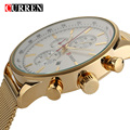 2016 Nova CURREN Marca De Luxo de Ouro Sliver Assista Relógio Men Relógios de Pulso Militar, W8227