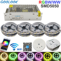 RGB DC 12V Led Strip Light WiFi RGBW Strip SMD5050 20M Stripes Waterproof Neon Flexible Led Tape Diode Ribbon+WiFi Control+Power