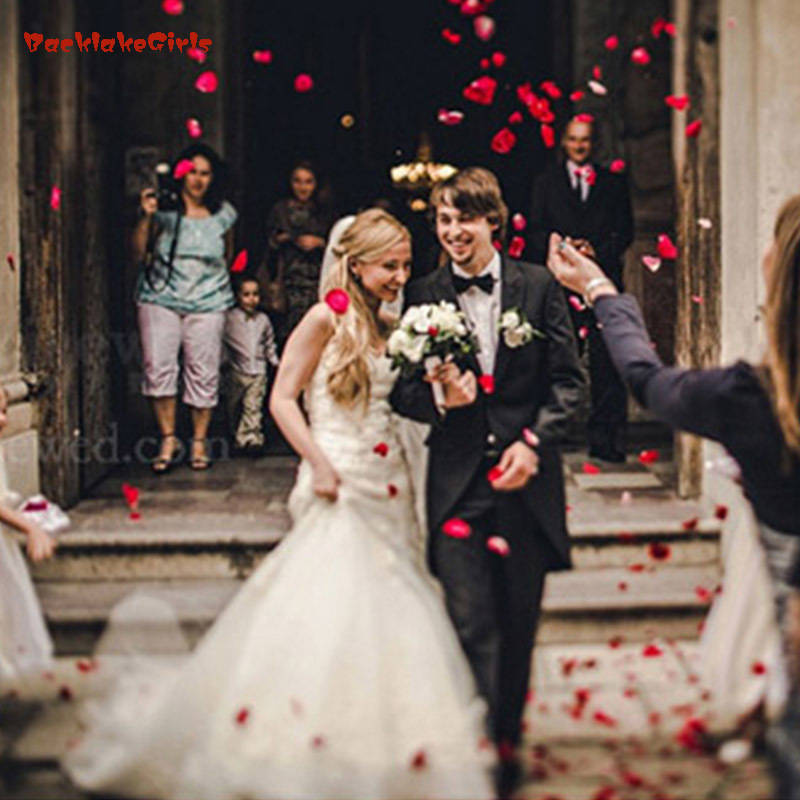 1000pcs Rose Petals Artificial Wedding Party Vase Decor Flower Shower Confetti Fiancee Flowers