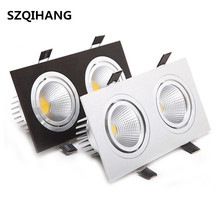 High Power Aluminum Led COB Dimmable Ceiling Light Lamp AC110V AC220V 7W 10W 14W 20W 24W Square cob led downlight CE&ROHS