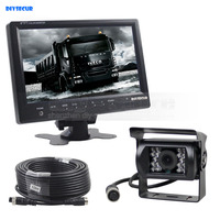 DIYSECUR Wired 9inch Car Monitor Rear View Monitor Waterproof IR CCD Camera Parking Accessories for Bus Horse Trailer Motorhome