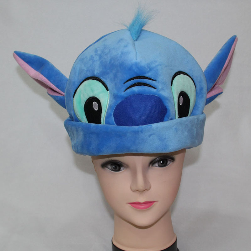 Stitch Stitching Plush Hat Anime Character Stitch Winter Warm Hat Cosplay Hat Animals Lilo Stitch Stuffed Doll Cap Children Gift