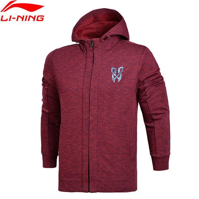 Li-Ning Для мужчин баскетбол FZ вязаное худи куртки классического кроя Профессиональный Фитнес комфорт внутри спортивные свитеры AWDN123 MWW1373