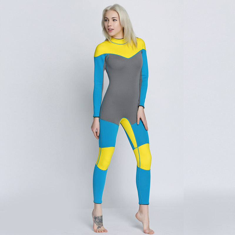Women's Spearfishing Wetsuit 3MM Neoprene SCR Superelastic Diving Suit Waterproof Warm Professional Surfing Wetsuits Full Suit spearfishing wetsuit 3mm neoprene scuba diving suit snorkeling suit triathlon waterproof keep warm anti uv fishing surf wetsuits