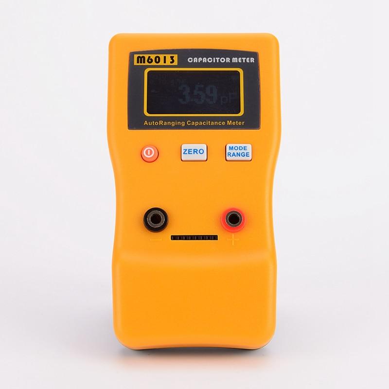 Цифровой автоматический измеритель емкости 0,01pf до 470000 мкФ ЖК-тестер электронных конденсаторов 0,01pf до 470mF M6013 с тестовым зондом
