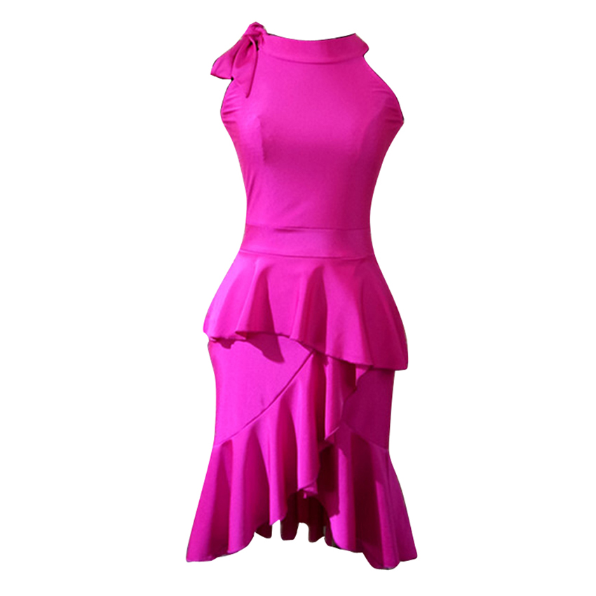 Ruffle Latin Dance Dress Girls Women Samba Dance Costumes Clothes For Salsa Ballroom Dancing Dresses For
