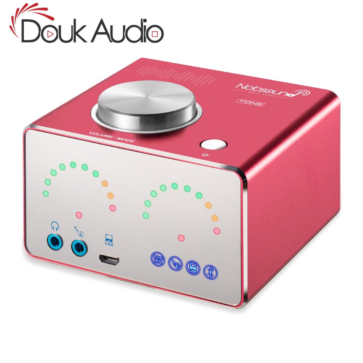 Douk audio Mini Bluetooth 4.2 Desktop Integrated HiFi TPA3116 Digital Power Amplifiers Stereo USB Sound Card Headphone Amp douk audio mini bluetooth 4 2 desktop integrated hifi tpa3116 digital power amplifiers stereo usb sound card headphone amp