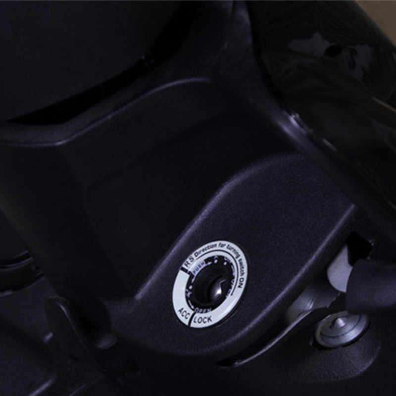 3D ג 'ל זוהר מפתח טבעת רכב מדבקת אופנוע מדבקות זוהר הצתה מתג כיסוי אוניברסלי עבור BMW טויוטה סוזוקי הונדה אאודי פולקסווגן