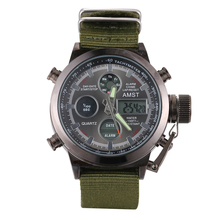AMST Military Watches Dive 50M Nylon Strap LED Watches Men T