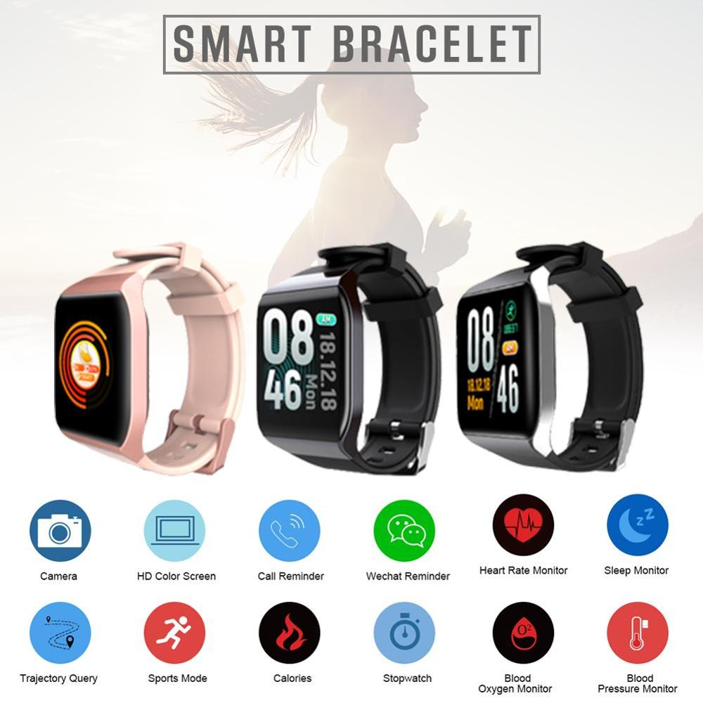 Vwar KT5 Full Screen Touch Smart Watch Heart Rate Blood Pressure Oxygen Monitor Sport Bluetooth Smartwatch for iPhone Android in Smart Watches from Consumer Electronics