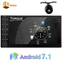 2 DIN Android 7.1 car audio and touch screen multimedia receiver Bluetooth support /WIFI/OBD2/ MirrorLink Backup Camera headunit