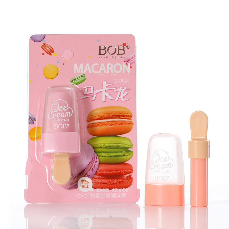 2018 New Lip Care Lipstick Beauty Macarons Ice Cream Sweet Lip Balm Lasting Moisturizing Fade Lip Gloss Waterproof Lip Makeup