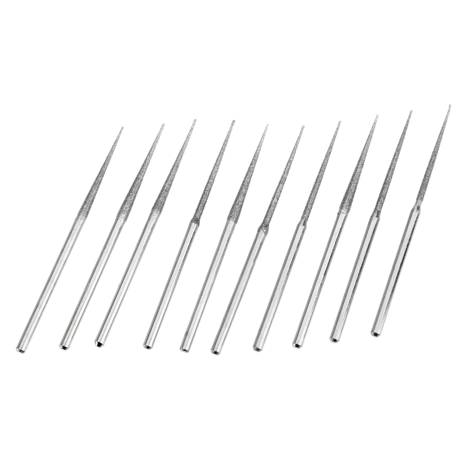 10pcs Dremel Accesories Mini Drill Diamond Grinding Head