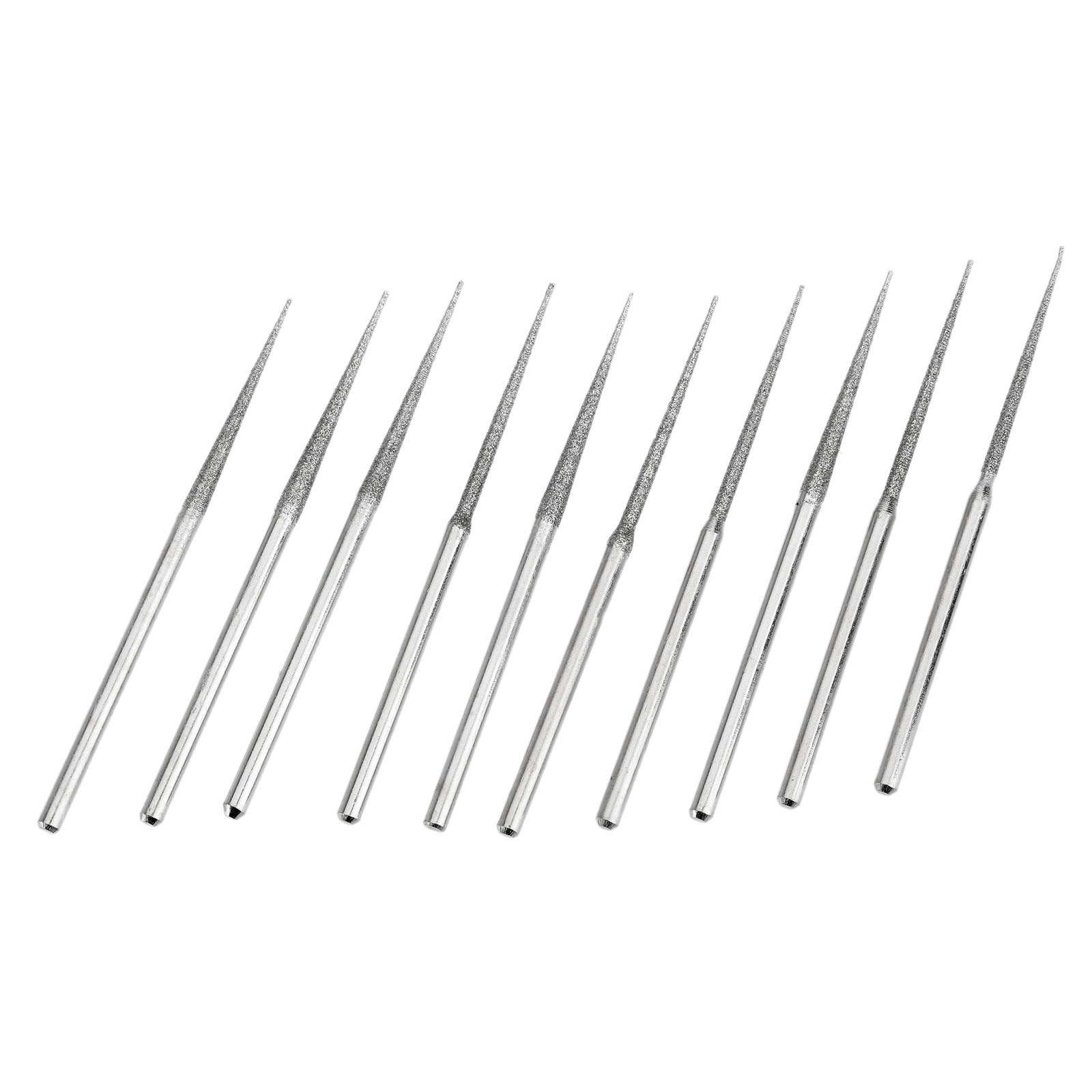 10Pcs Dremel Accesories Mini Drill Diamond Grinding Head Bur Bit Set Grinding Tool For Dremel Rotary Tool L-fine Tip 3mm Shank