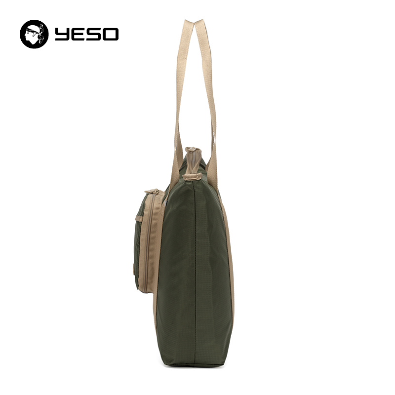 YESO Casual Women Tote Bags Multifunction Waterproof Nylon Foldable Top-Handle Bags Portable Lightweight Folding Bag For Ipad