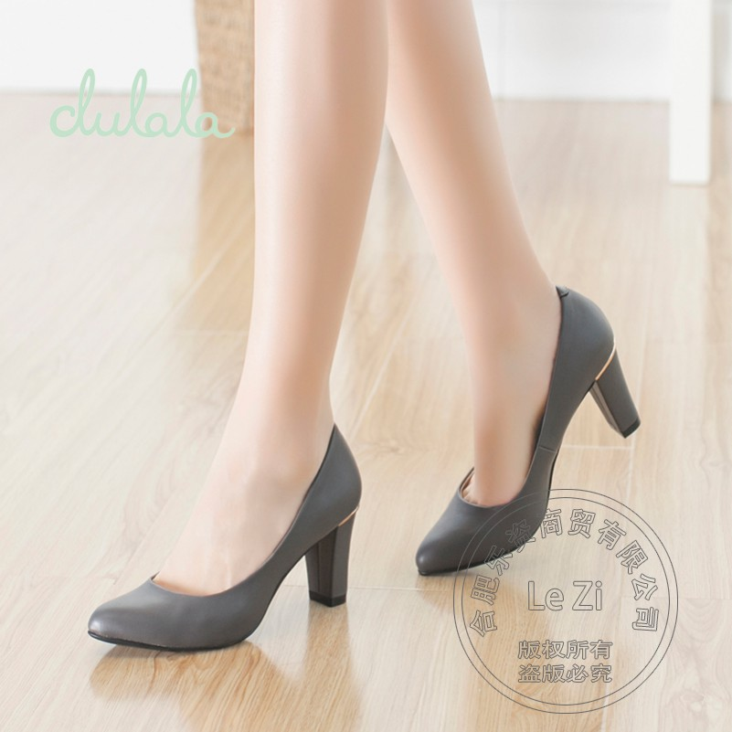 2015 Patent Leather font b Women b font Heels Bag And Shoes With Thick Soles Match