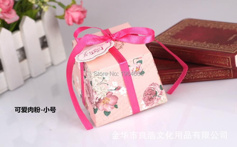 livraison gratuite 100 pcslote rose fleur de mariage bote de papier cadeau bonbons - Thankyou Liste De Mariage