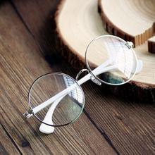 Ретро Мужская Круглый Металлический Каркас Очки Прозрачные Линзы Очки Очки Очки