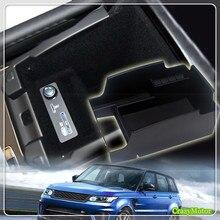 منظم سيارة لاند روفر التنفيذي رينج روفر سبورت 2014 2017 سيارة مسند الذراع المركزي صندوق تخزين علبة القفازات اكسسوارات السيارات