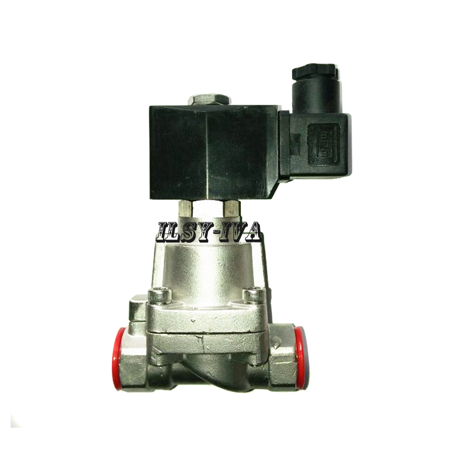 DC24V G1 1/2 DN40 two way Piston type High temperature and pressure Normally closed Steam solenoid valve