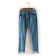 Vintage Middle Waist Jeans Women Denim Pants New Slim Boyfriend Pants Capris Trousers Fits Lady Jeans Women Jeans Plus Size
