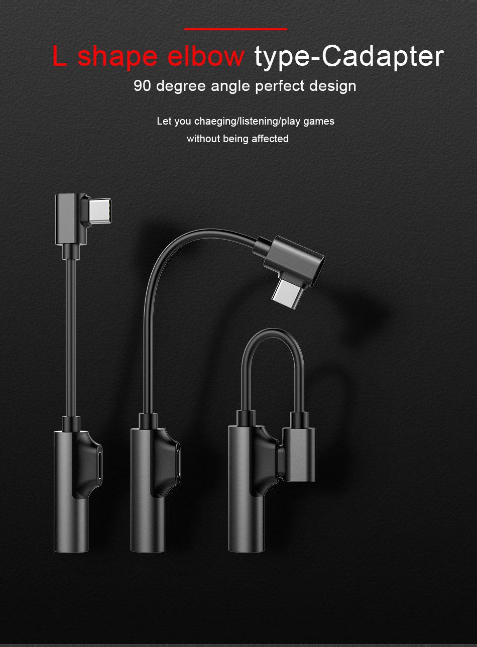 !ACCEZZ USB Type C Earphone Connector For Xiaomi Mi 6 5 Huawei Mate 10 Pro Fast Headphone Jack Splitter Charging Audio Adapter (2)