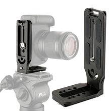 Kamera standı L braketi plaka montaj kamera dikey portre modu Canon Nikon üzerinde Zhiyun vinç 2 DJI Ronin S sabitleyici
