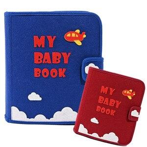 DIY чувствовал, ручная работа, моя первая книга Монтессори, детская книга для раннего образования, тихая книга для шитья мамы, детская игрушка...