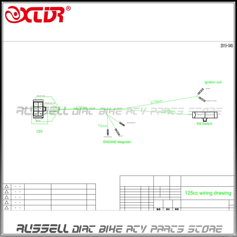125cc pit bike wiring diagram 125cc image wiring pit bike wiring diagram ewiring on 125cc pit bike wiring diagram
