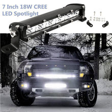 Linterna led headlight 7inch 18W Led Work Light Bar Spot Suv Boat Driving Lamps 4WD linterna led recargable de alta potencia(China)