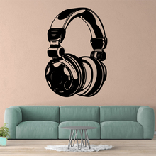 Lovely Earphone Wall Stickers Decorative Sticker Home Decor For Kids Rooms Removable Decals