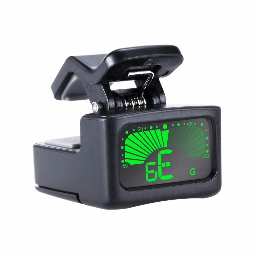 20pcs Musedo Micro Guitar Tuner Mini Clip on Guitar Tuner Bass tuner Sensitive Mini stature LCD