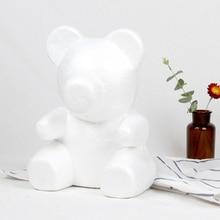 1 шт. 15 см/20 см/35 см пена Роза медведь плесень DIY искусственный цветок розы Медведь пластик медведь розы собака удачи модель формы