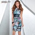 2017 summer fashion mini sexy maxi dress vestidos de fiesta caliente venta de alta calidad de impresión sin mangas de cuello redondo de encaje decoración 1707