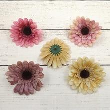 20pcs/lot Artificial Flower Daisy Flowers Head High Quality Gerbera Silk Petals for Wedding Decoration DIY Wreath Fake