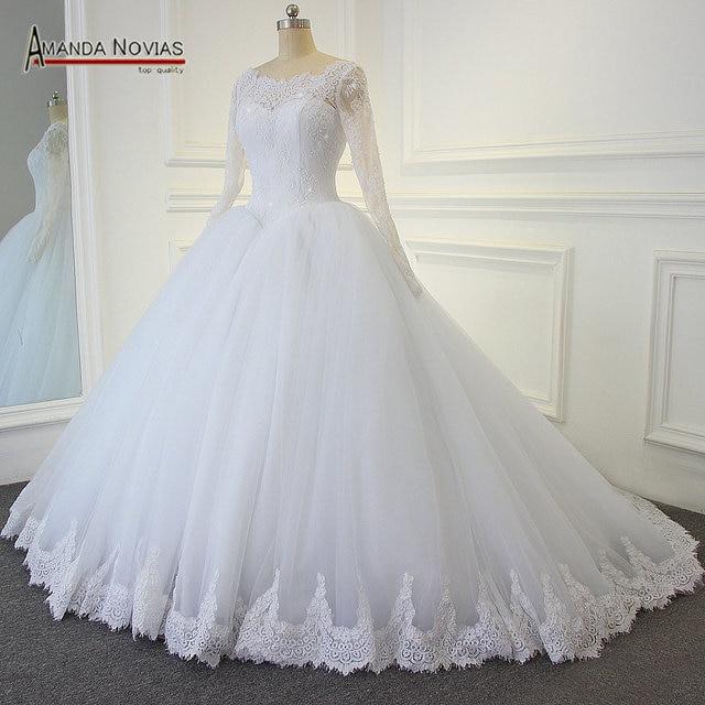 White puffy dress wedding