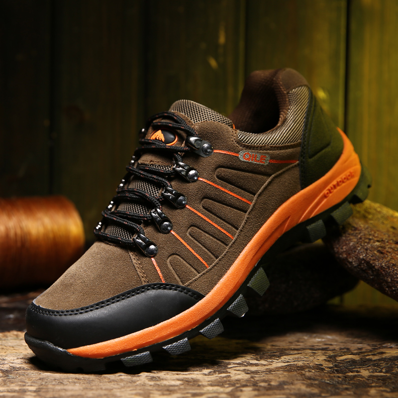 New Men Hiking Shoes Outdoor Breathable Climbing Athletic Shoes Hunting Non-slip Trekking Mountain Sport Shoes 2017 new men hiking shoes non slip waterproof women trek climbing shoes outdoor breathable mountain trial lover trekking shoes