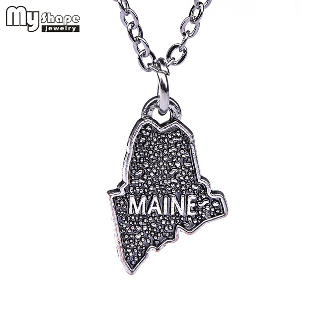 US $0.76 5% OFF|My shape Maine State Necklace Map Pendant Zinc Alloy on map party decor, map blouse, map linens, map engraving, map gift wrapping, map of nashville necklace, map drapes, map end tables, map throw blanket, map items, map pouf, map sweatshirt, map vest, map party favors, map pendant necklaces, map name tags, map art, map wall artwork, map necklace diy, map gift tags,