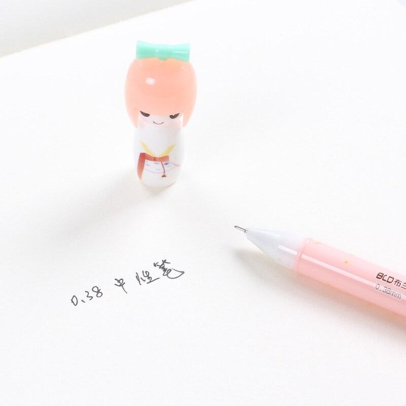 36 pçs lote Japonês Boneca Gel Caneta