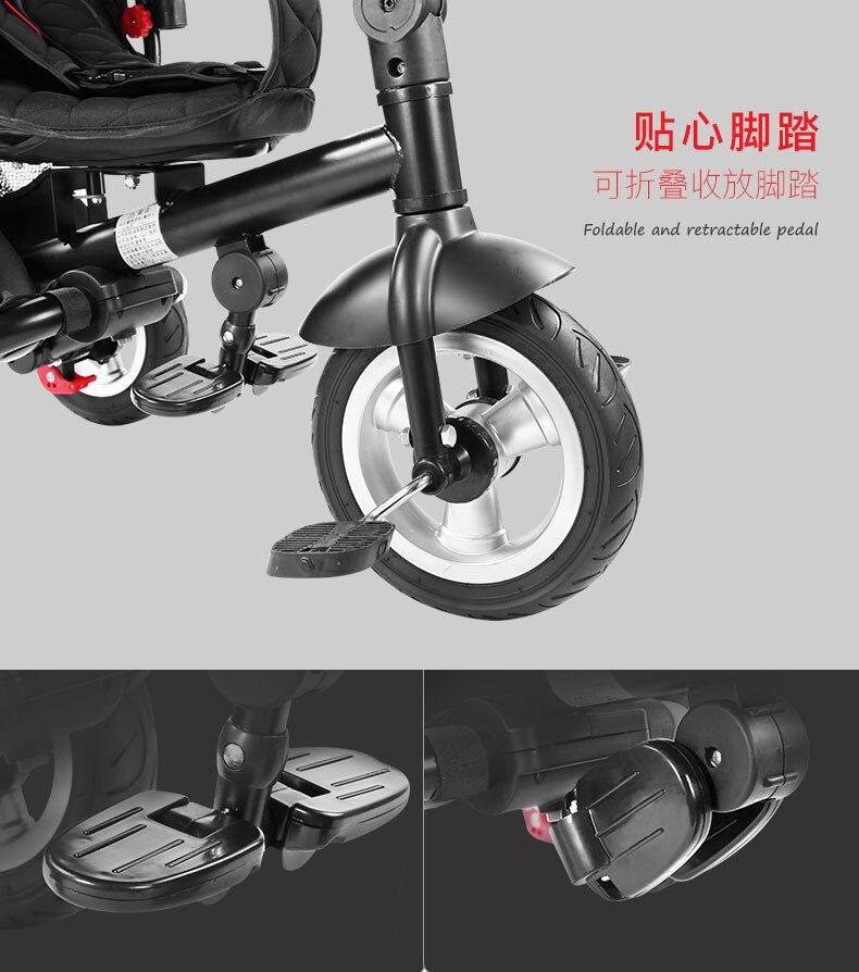 crianças carrinho de criança bicicleta veículo 360 revolvendo handsmicr trike