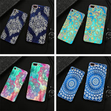 eeae28333 Shell For Apple iPhone 5 5C 6 6S 7 7plus 8 Plus 6SPlus x Back Case Cover  Printing Mandala Flower Datura Floral Cell Phone Cases